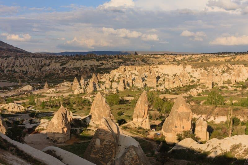Landskap av Cappadocia arkivfoto