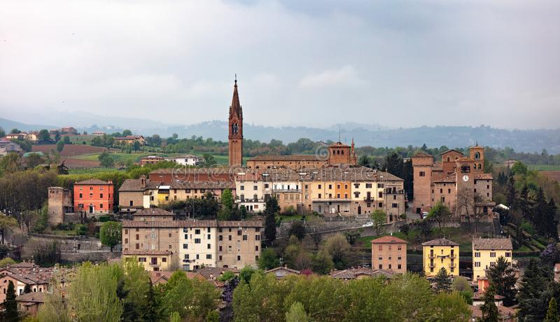 Landskap av Castelvetro Modena royaltyfri fotografi