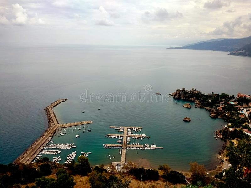 Landskap av Cefalu, Sicilien, Italien arkivbilder