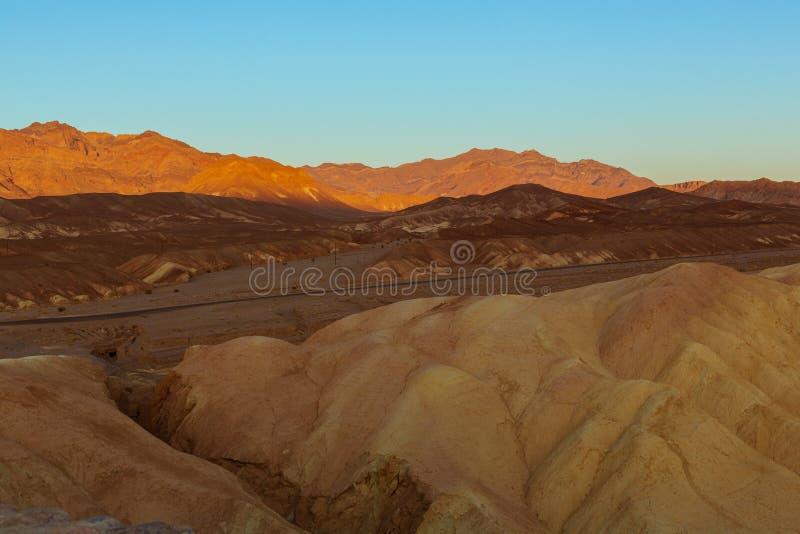 Landskap av Death Valley arkivbild