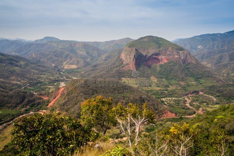 Landskap av den Amboro nationalparken i Bolivia arkivbild