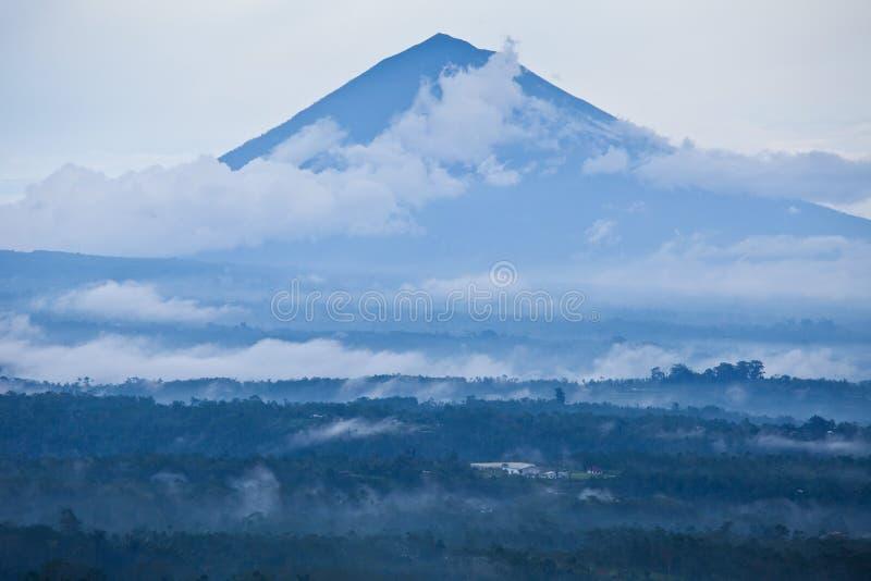Bali vulkan arkivfoton