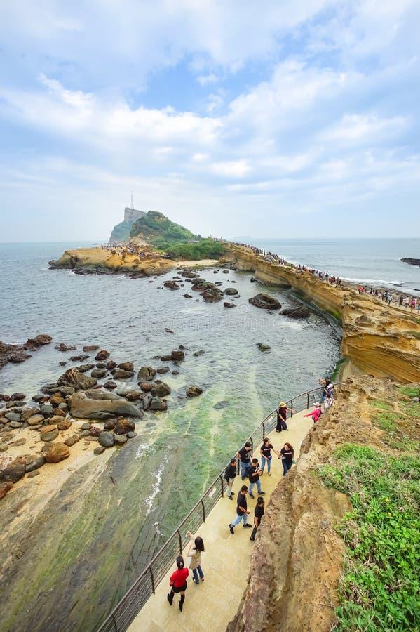 Landskap av den Yehliu geoen parkerar i Taiwan royaltyfri foto