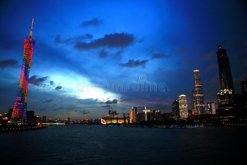 Landskap av det Guangzhou tornet arkivfoto