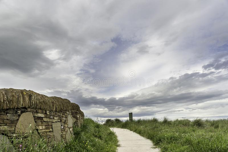 Landskap av Dunnet fjärdbeag arkivfoto