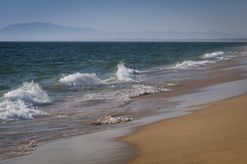 Landskap av en strand i Portugal royaltyfria foton