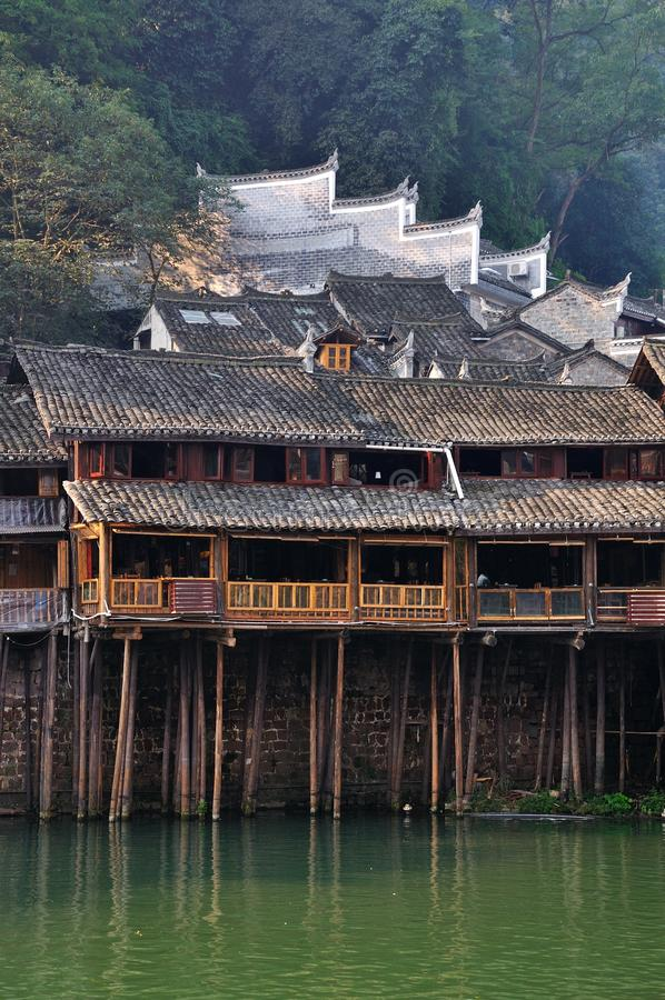 Landskap av Fenghuang i Hunan, Kina arkivbild