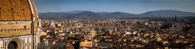 Landskap av Florence från campanilen för Giotto ` s royaltyfria bilder