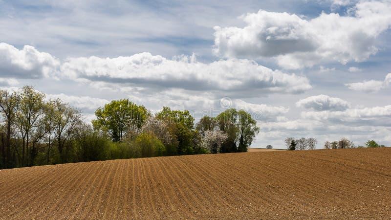 Landskap av franska Vexin arkivfoto