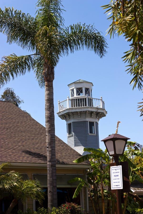 Landskap av hamnstadbyn i San Diego royaltyfria foton
