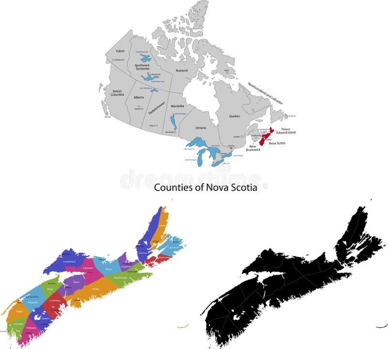 Landskap av Kanada - Nova Scotia vektor illustrationer