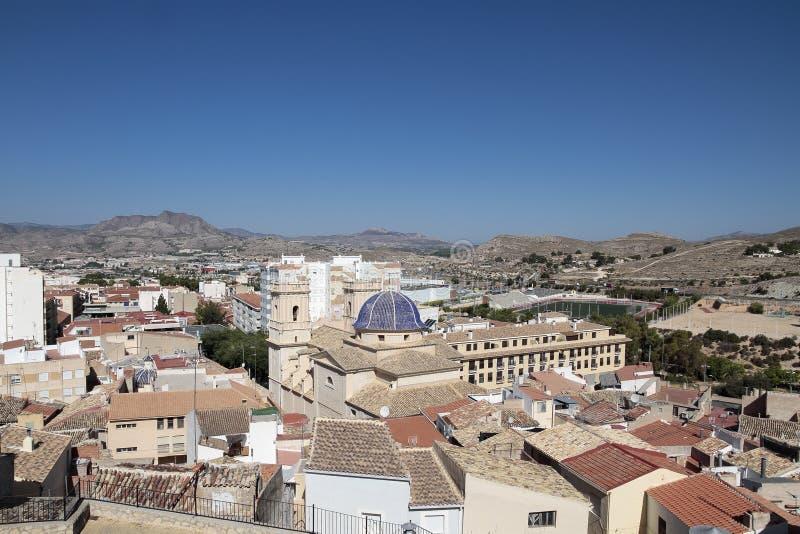 Landskap av kommunen av Petrer royaltyfri foto