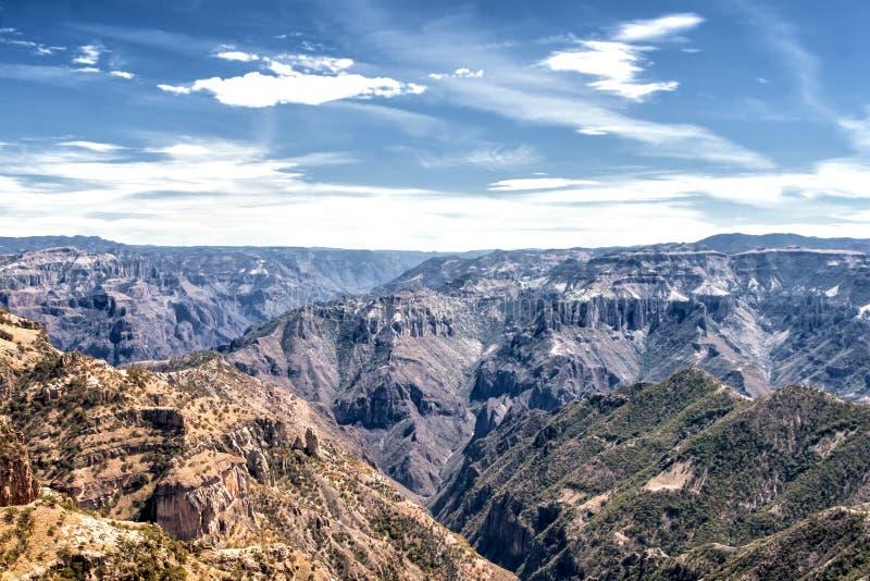 Landskap av kopparkanjonen, Chihuahua, Mexico arkivfoto