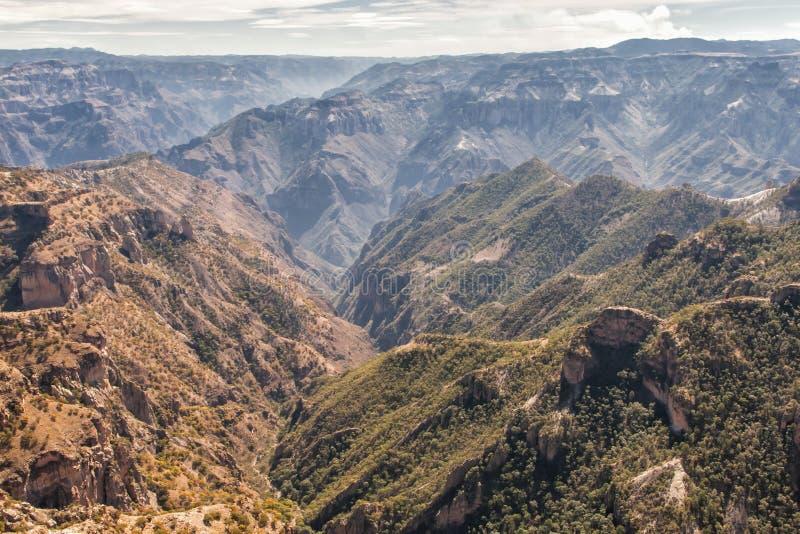 Landskap av kopparkanjonen, Chihuahua, Mexico royaltyfri fotografi