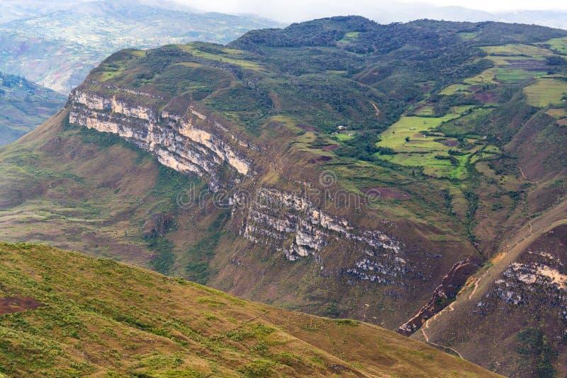Landskap av Kuelap, Peru arkivbild