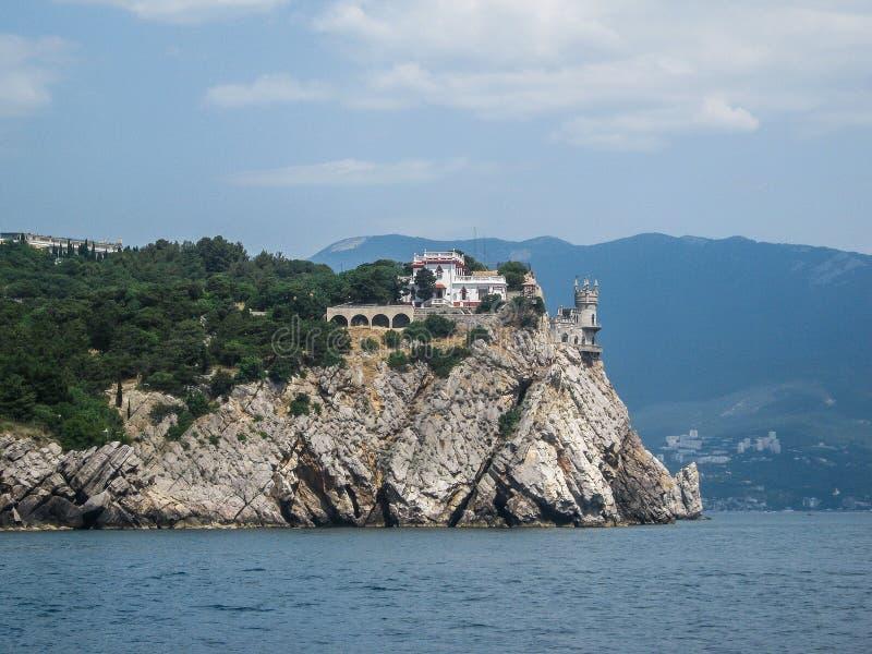 Landskap av kusten av Krimet royaltyfria bilder