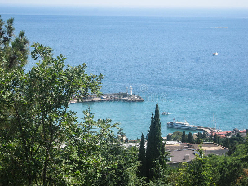 Landskap av kusten av Krimet arkivbild