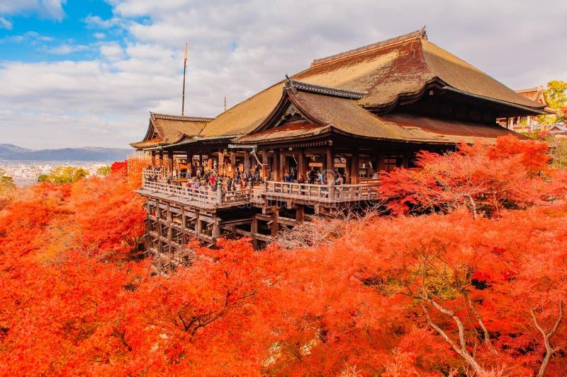 Landskap av Kyoto i höst arkivbild