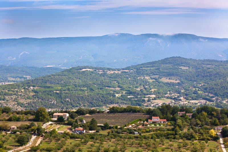 Landskap av lantliga Provence arkivfoto