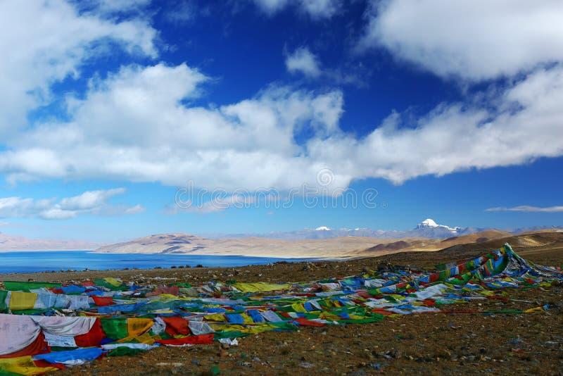Landskap av Mount Kailash arkivfoto