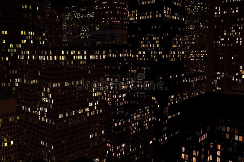 Landskap av nattstaden royaltyfri fotografi