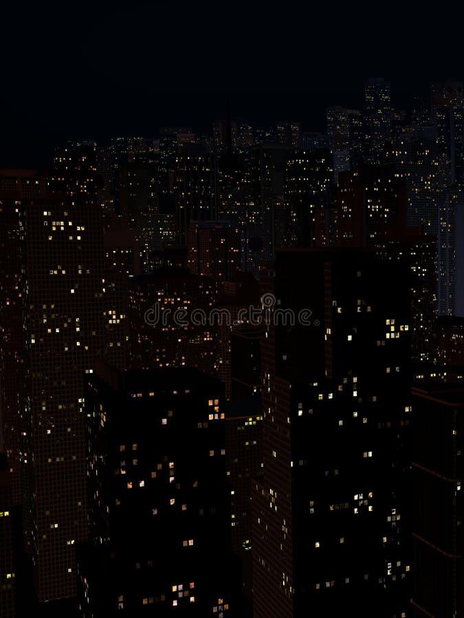 Landskap av nattstaden arkivfoto
