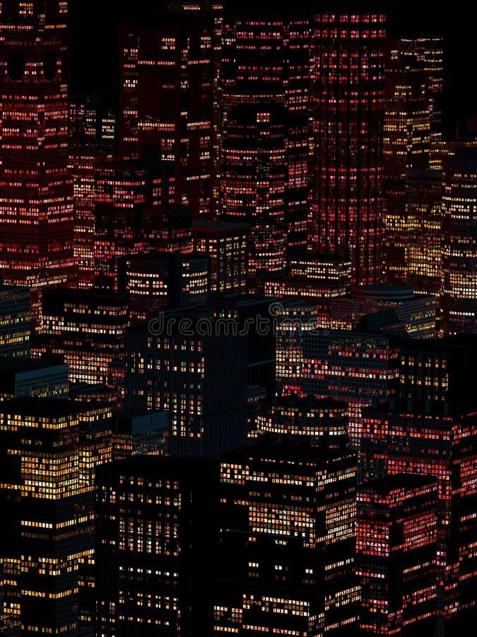 Landskap av nattstaden fotografering för bildbyråer