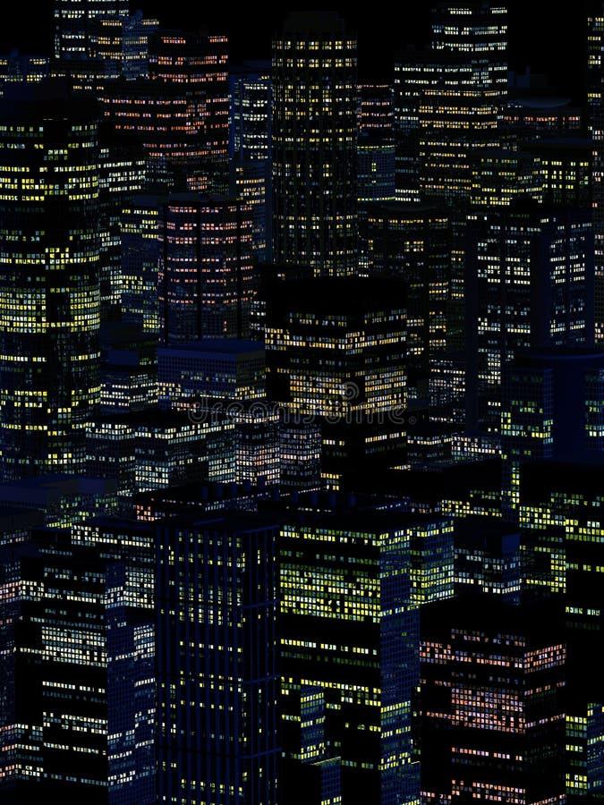 Landskap av nattstaden arkivbilder