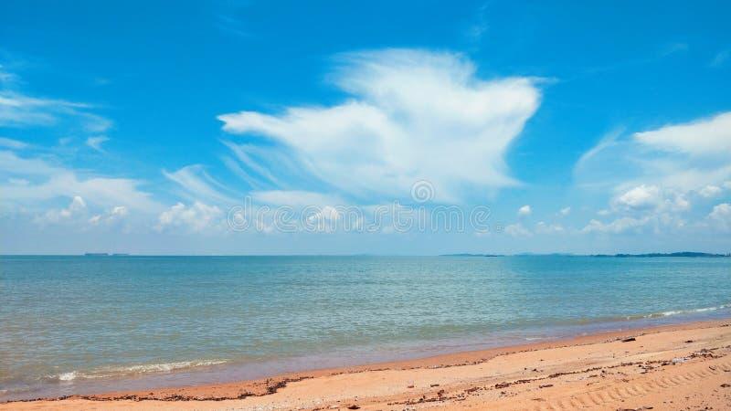 Landskap av Pantai Pengkalan Balak Melaka fotografering för bildbyråer