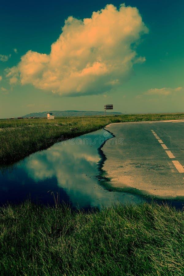 Landskap av Qinghai sjön arkivbild