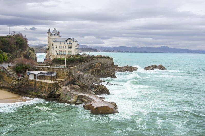 Biarritz i Frankrike arkivbilder