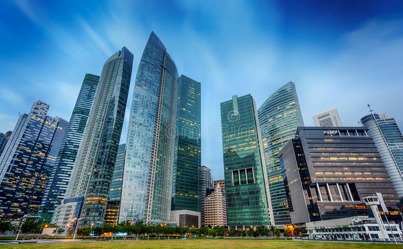 Landskap av Singapore arkivfoto