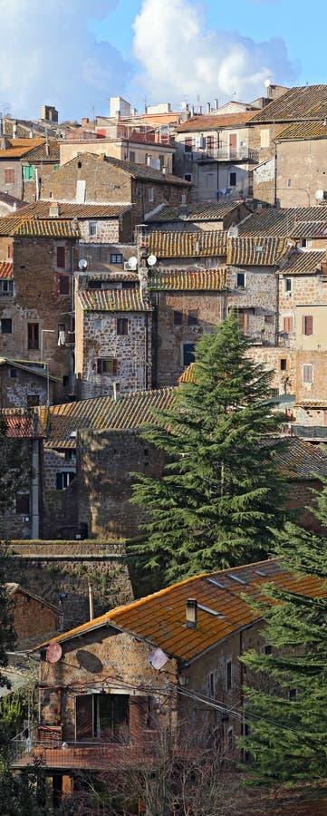 Landskap av Sutri. Lazio. royaltyfria bilder