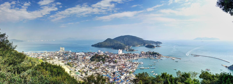 Landskap av Tomonoura royaltyfria foton