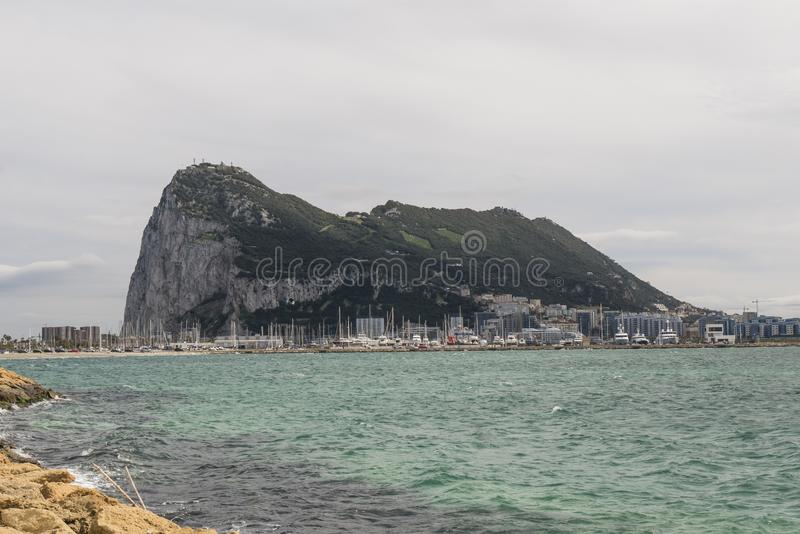 Landskap av vagga av Gibraltar arkivbild