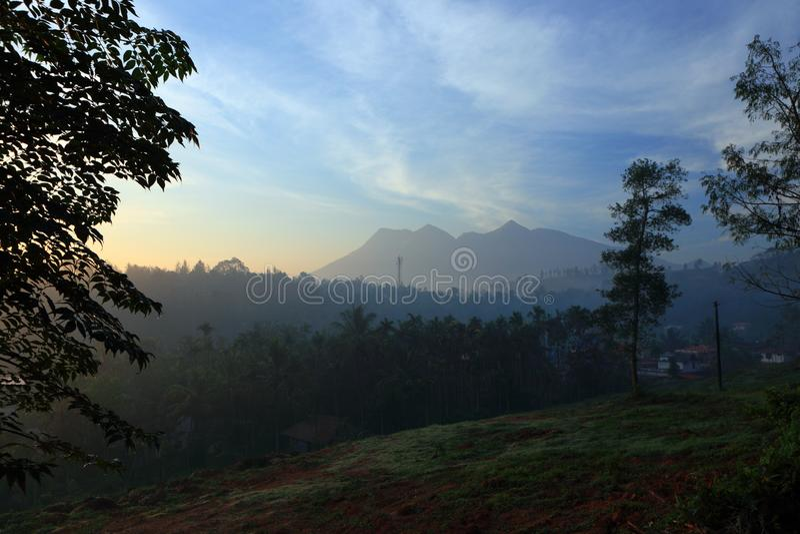 Landskap av Wayanaden i Kerala, Indien arkivfoto