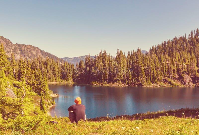 landskap för berg för himalayasladakhlake arkivfoton