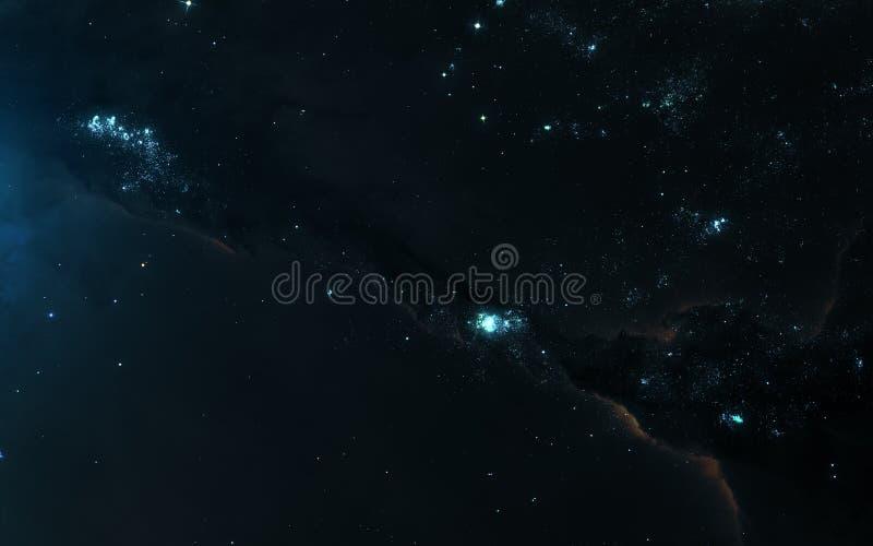 Landskap för djupt utrymme, nebulosa, stjärnaklungor Sciencekonst Beståndsdelar av bilden möblerades av NASA arkivfoto
