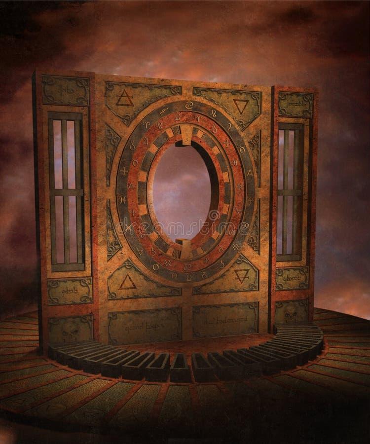 landskap för fantasi 05 vektor illustrationer