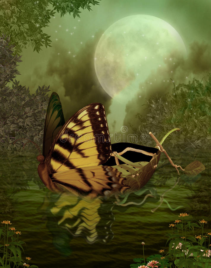 landskap för fantasi 109 royaltyfri illustrationer