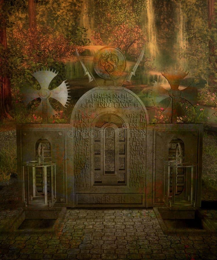 landskap för fantasi 17 royaltyfri illustrationer