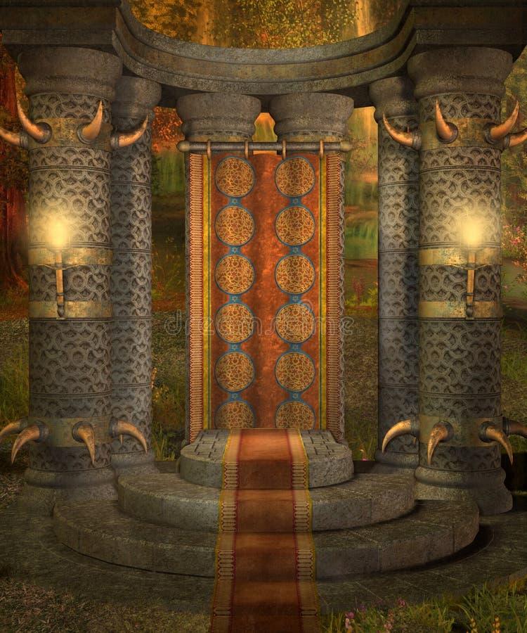 landskap för fantasi 18 royaltyfri illustrationer