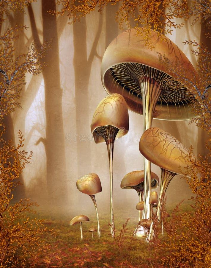 landskap för fantasi 83 stock illustrationer