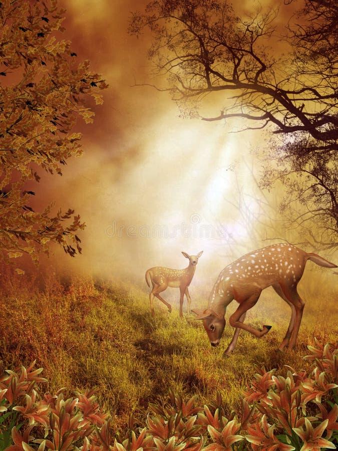 landskap för fantasi 86 stock illustrationer