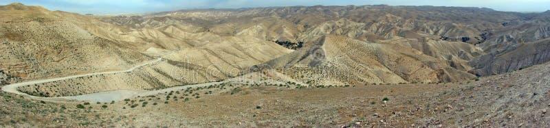 Landskap för Negev öken fotografering för bildbyråer