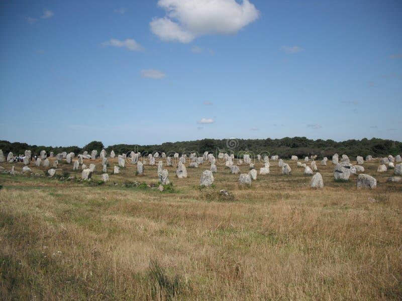 Landskap från Carnac arkivfoto