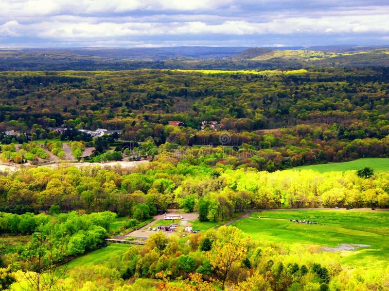 Landskap från det Talcott berget arkivfoto