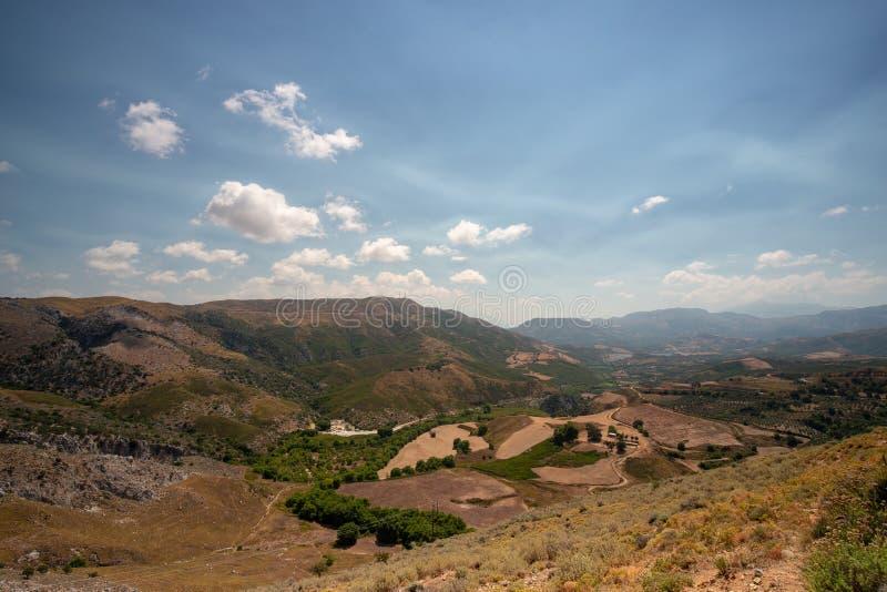 Landskap från inlandet av Kreta, Grekland arkivfoto