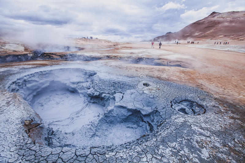 Landskap från Island arkivbild