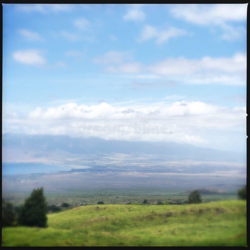 Landskap från Kula på Maui arkivfoto